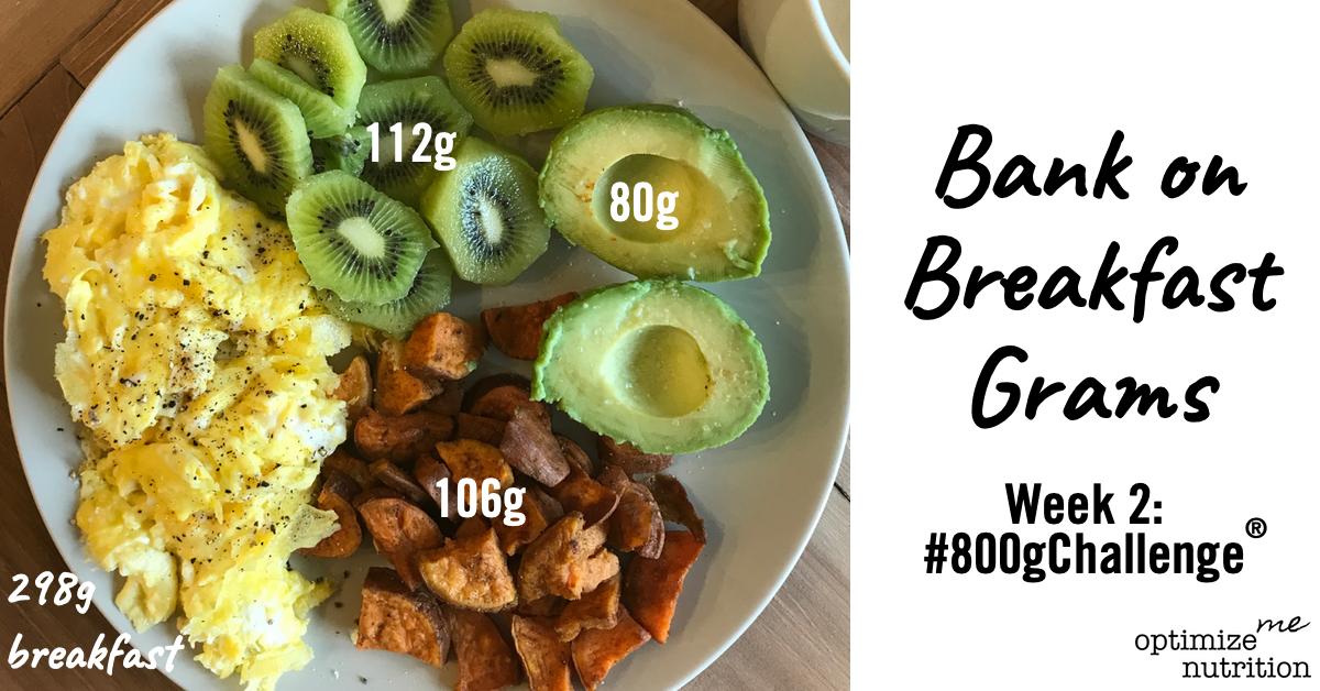 Woche 2 - 800g Challenge - Frühstück